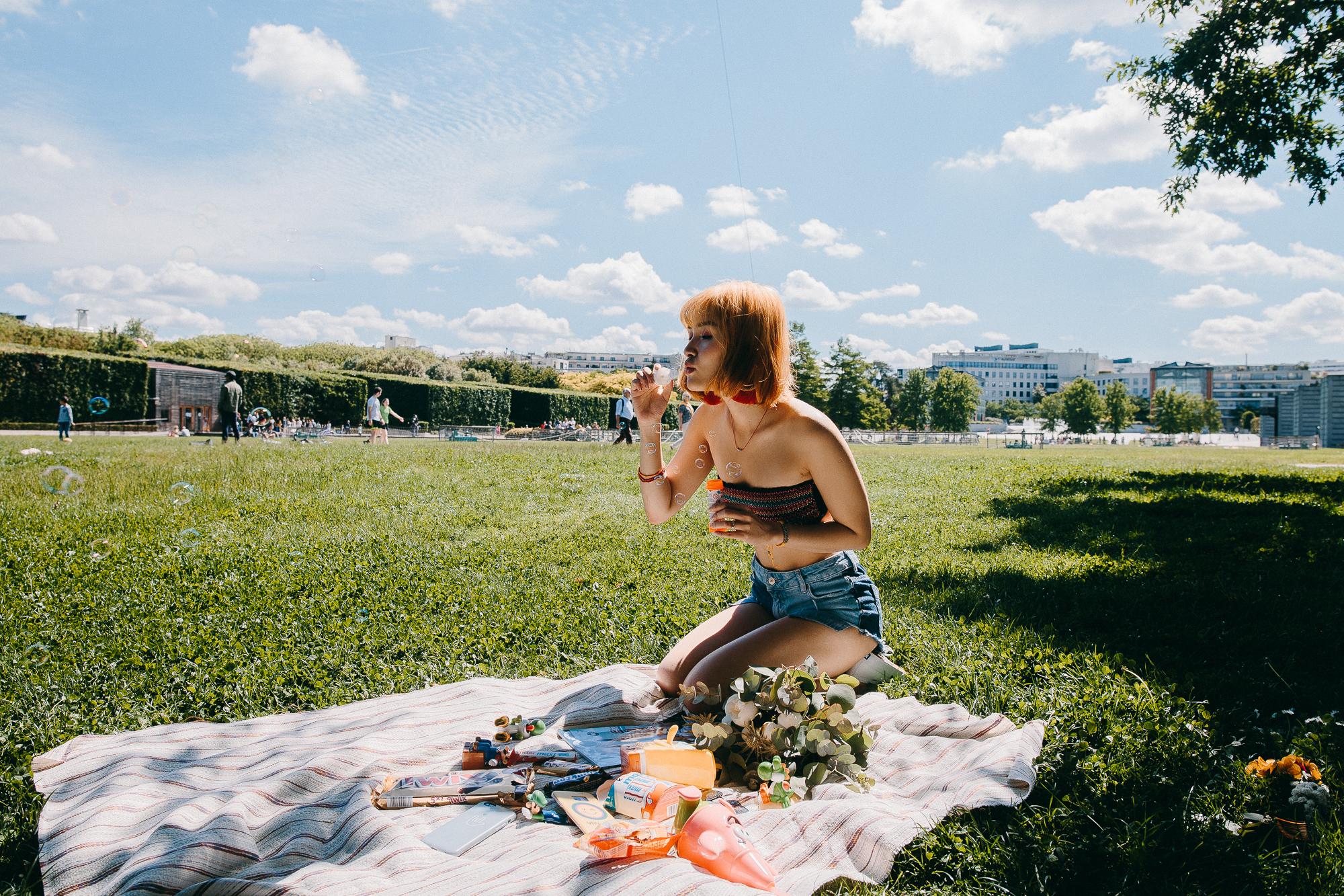 Picnic in Paris blogger park linhbaybong