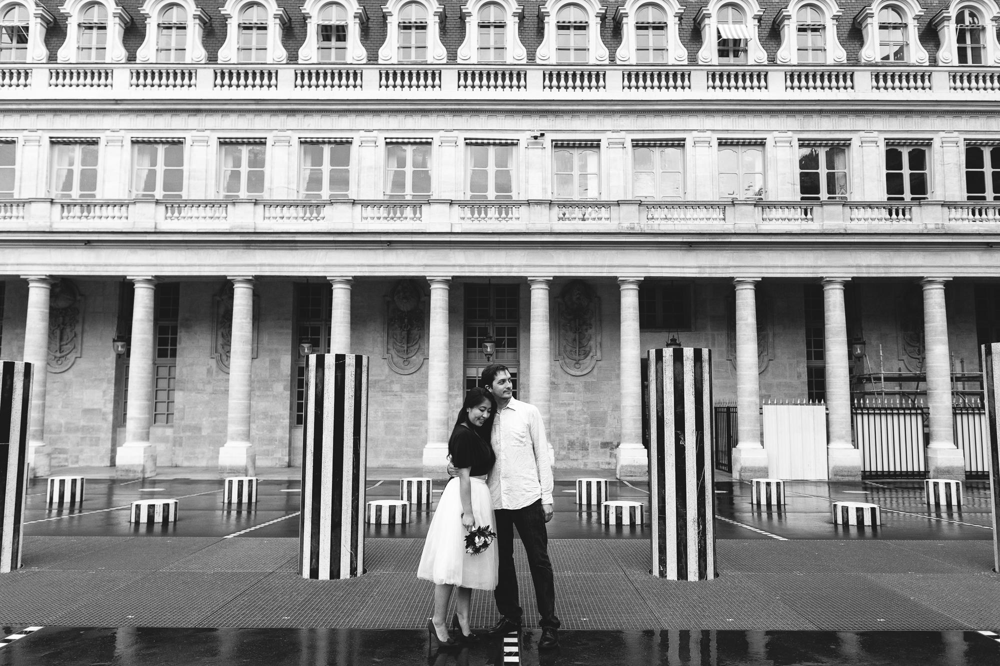Black & White Couple Photography Palais Royal Paris