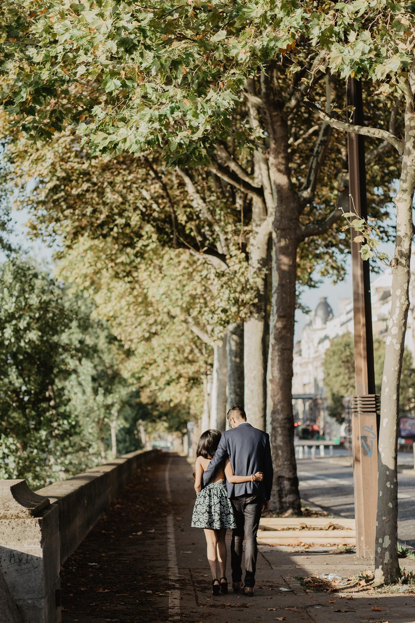 Couple Paris Photography Seine River