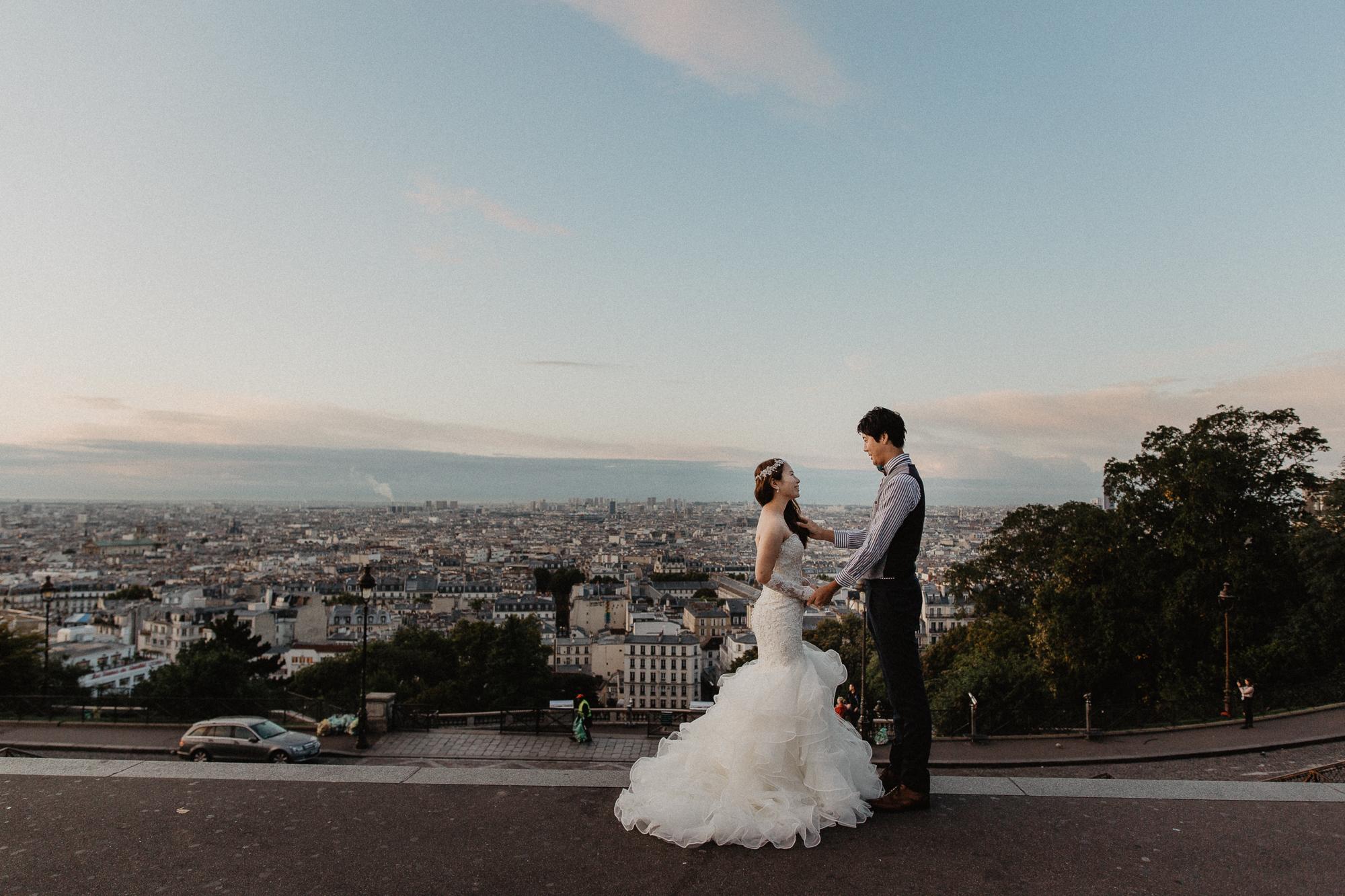 couple wedding paris montmartre photography