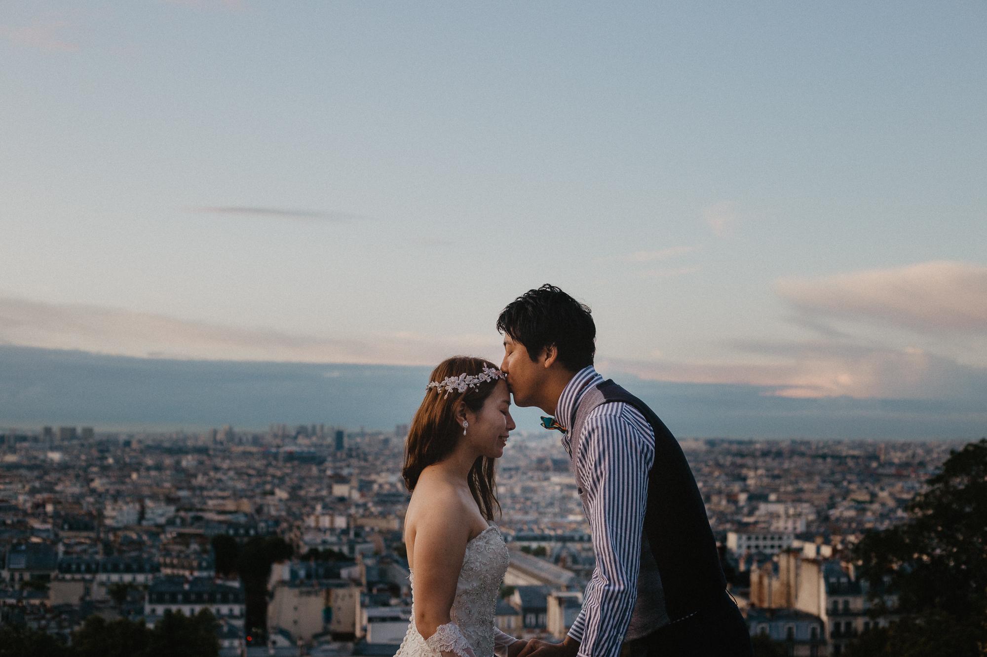 After wedding paris montmartre photography
