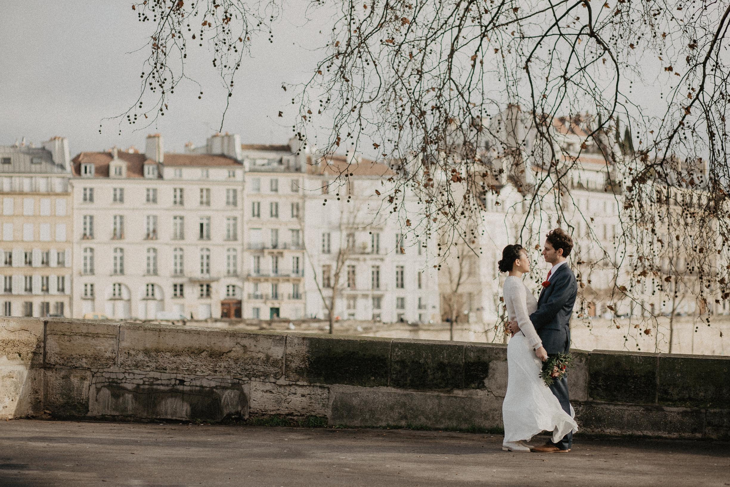 A winter wedding in Paris