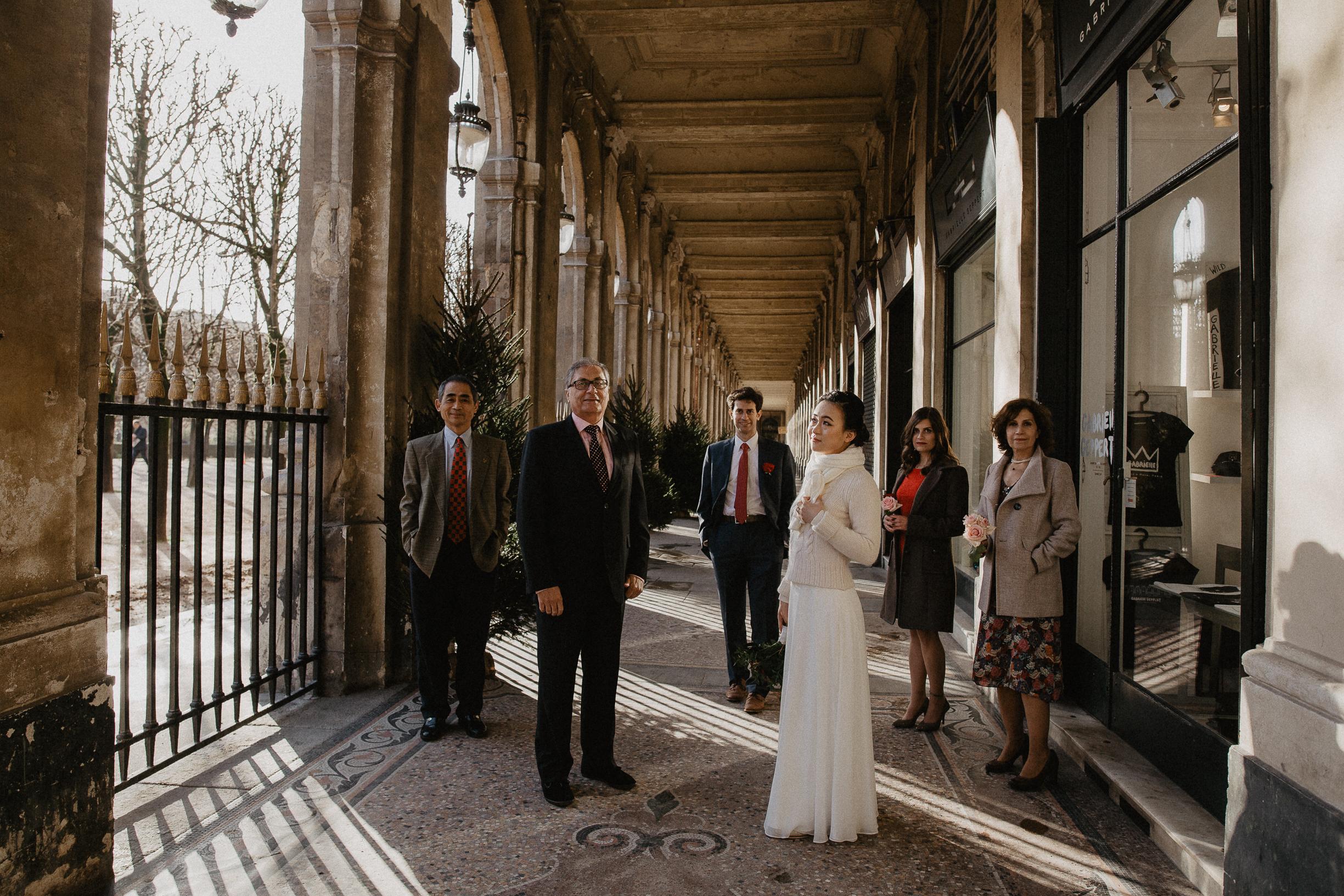 Family wedding paris photography