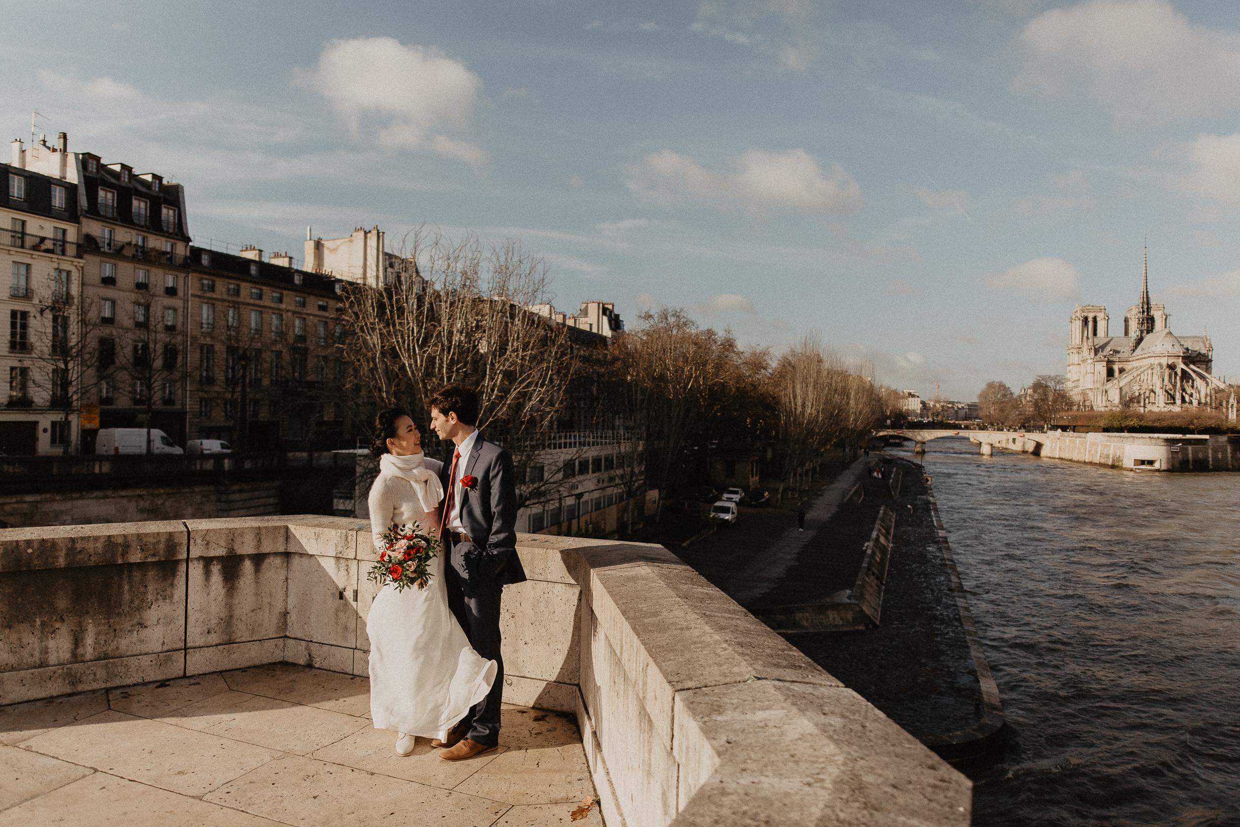 Wedding photography Paris Notre dame