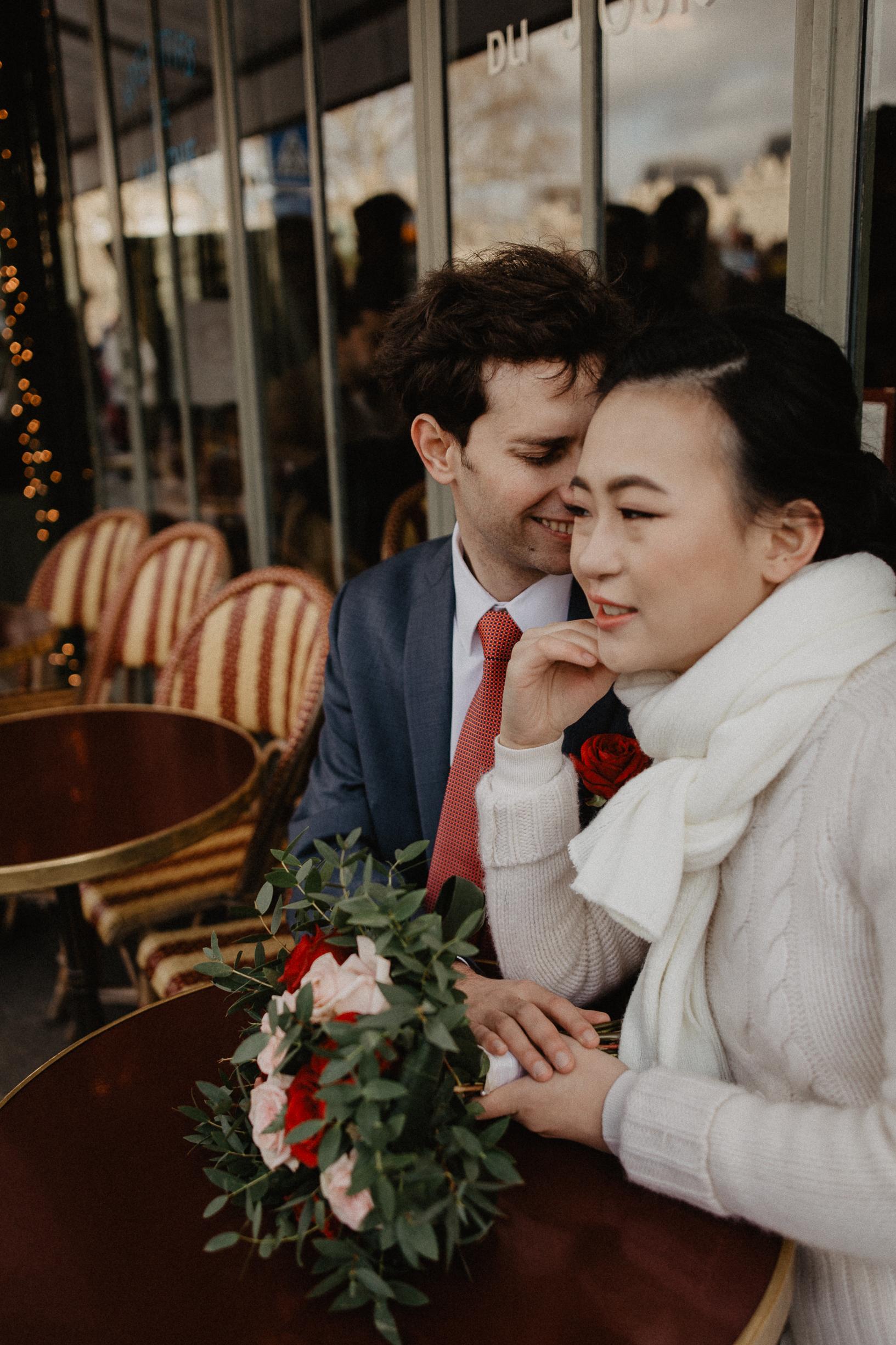 Winter Wedding photography Paris Notre dame