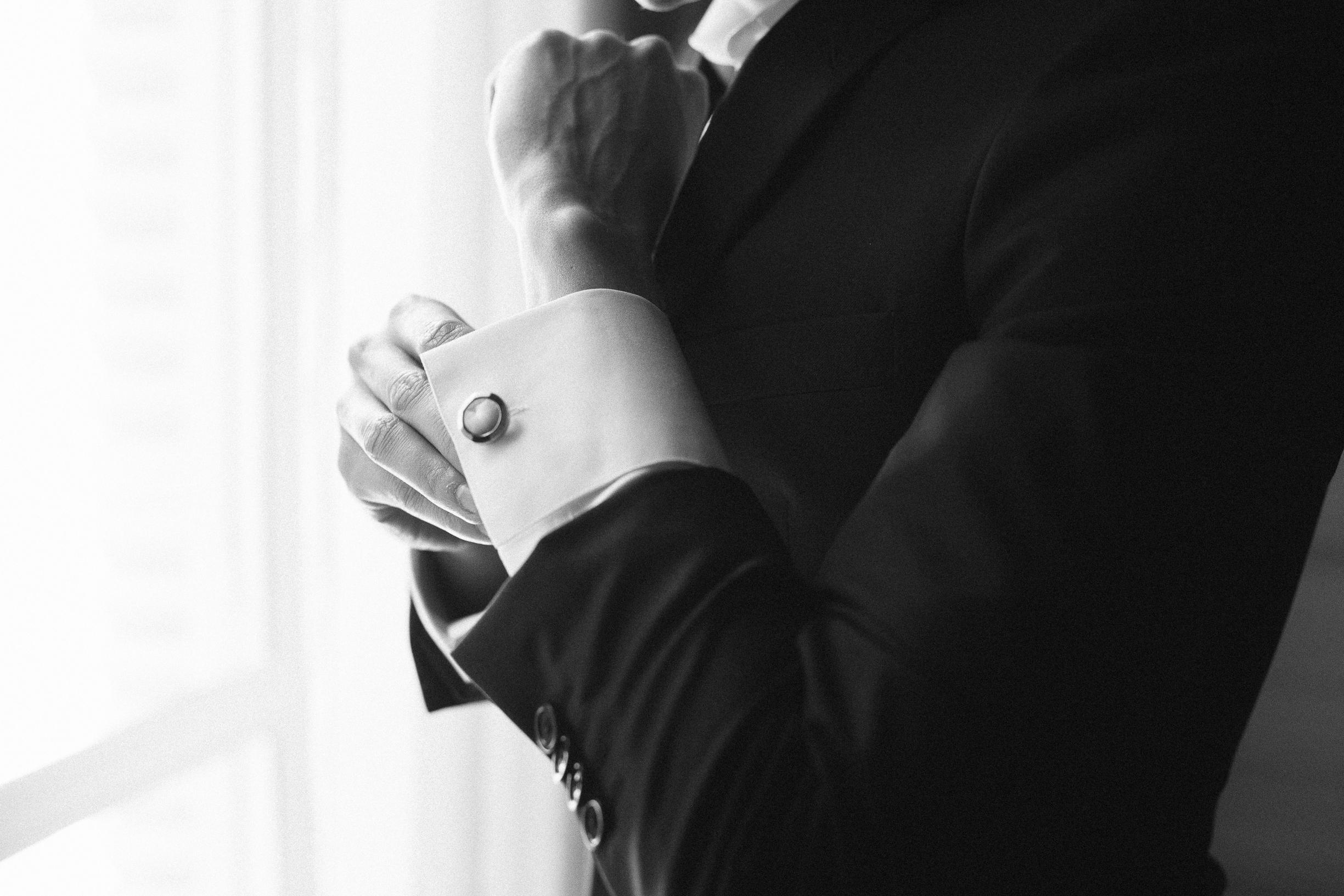 Bruce Fields suit wedding