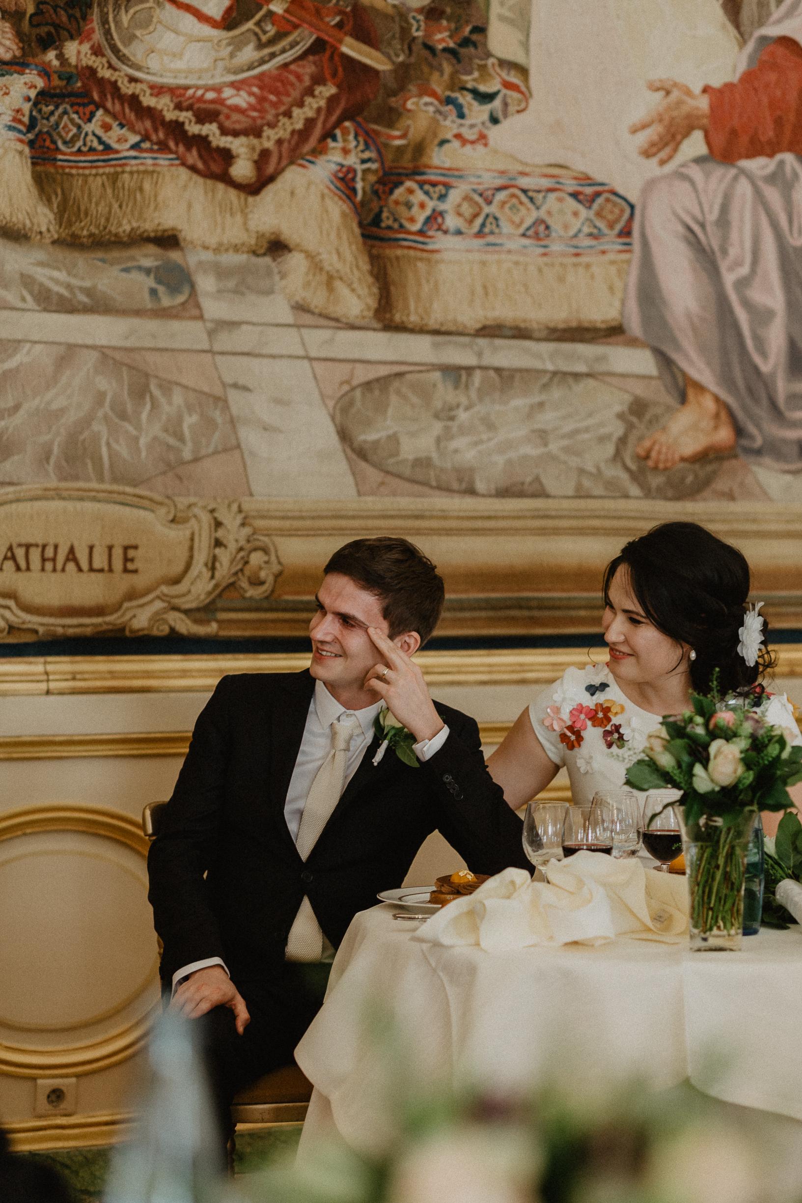 groom cry wedding photographer Le Cercle de l'Union Interalliée