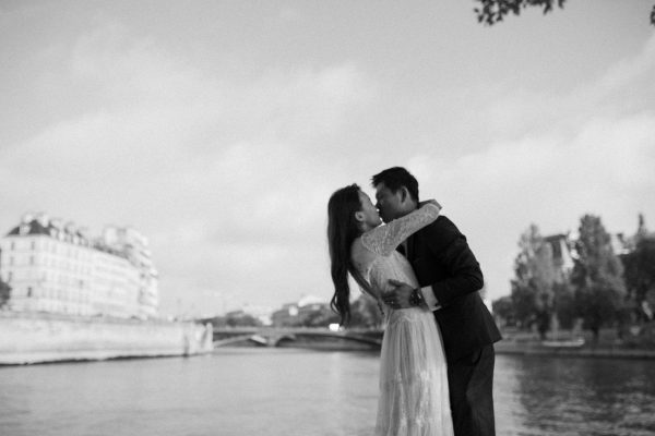 Paris Seine river pre-wedding