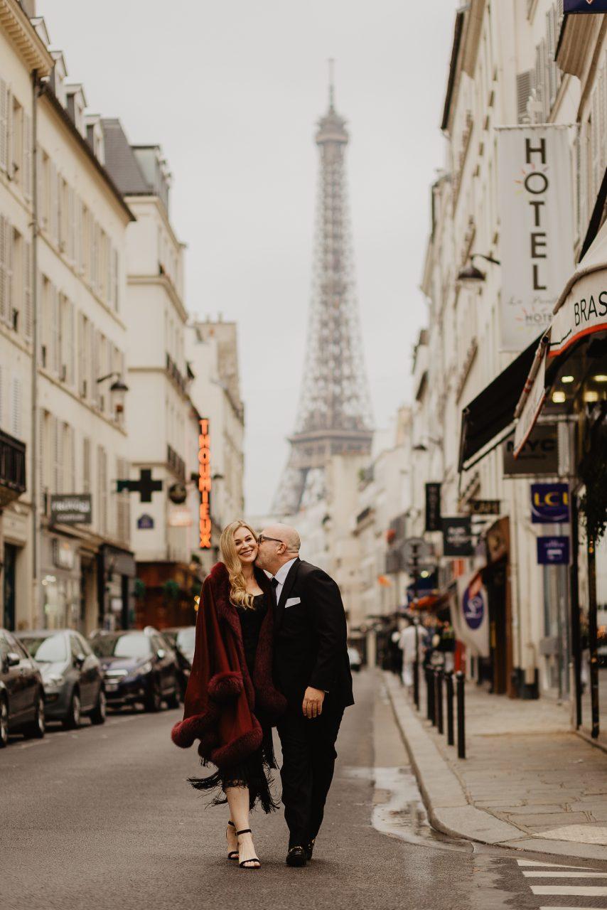 Autumn at Rue Saint Dominique Paris couple photo