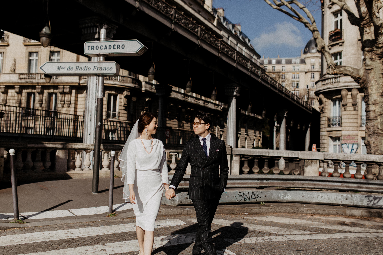 Paris Wedding  street style couple