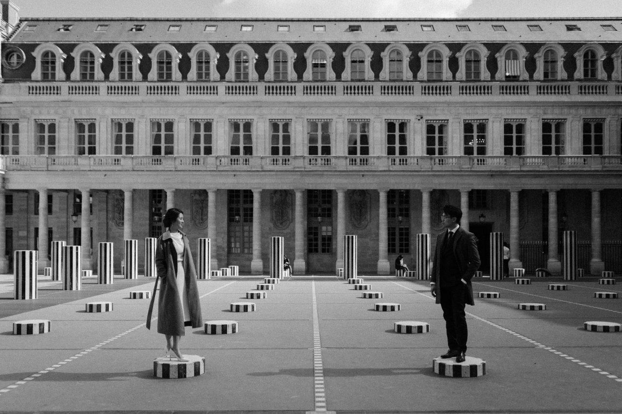 Palais Royal Couple photoshoot