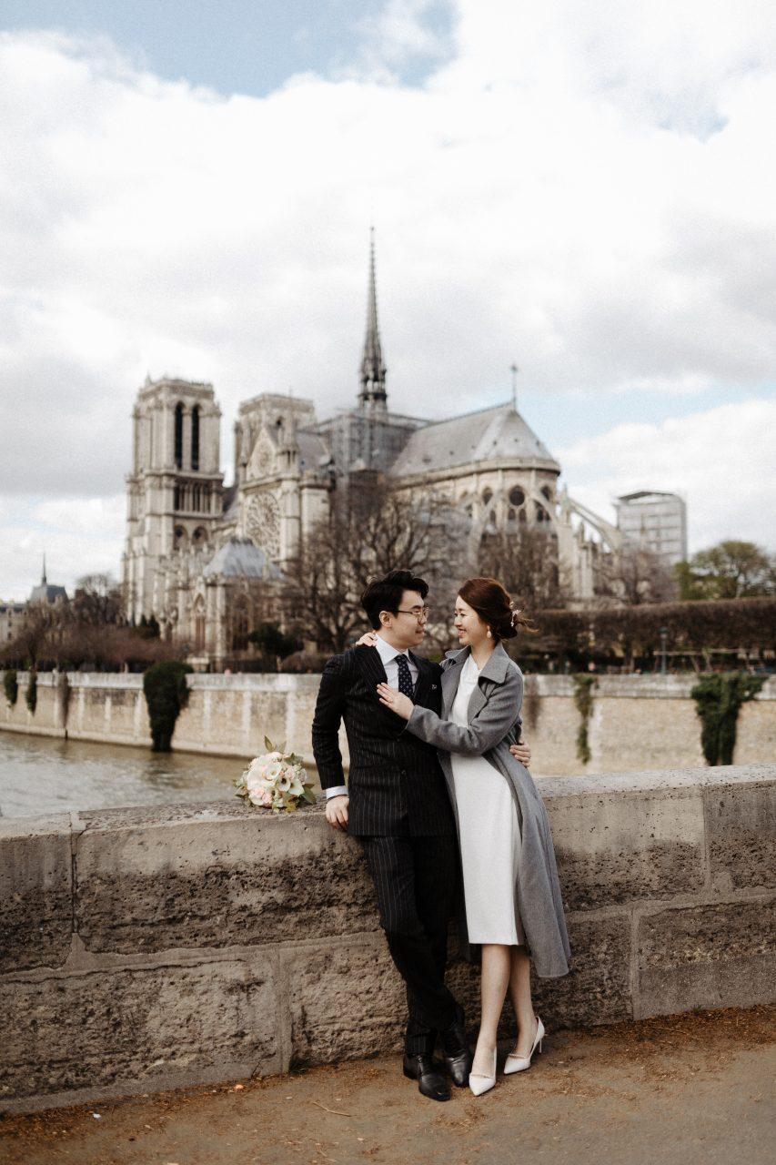 Notre Dame Wedding Photoshoot Paris