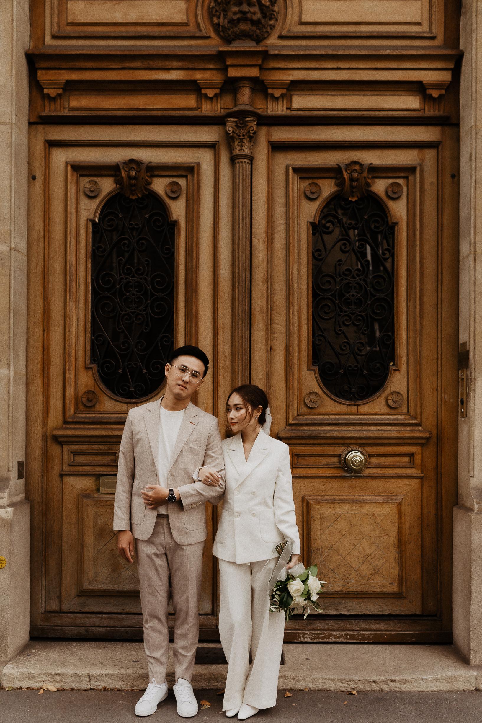 Paris Engagement Couple photos