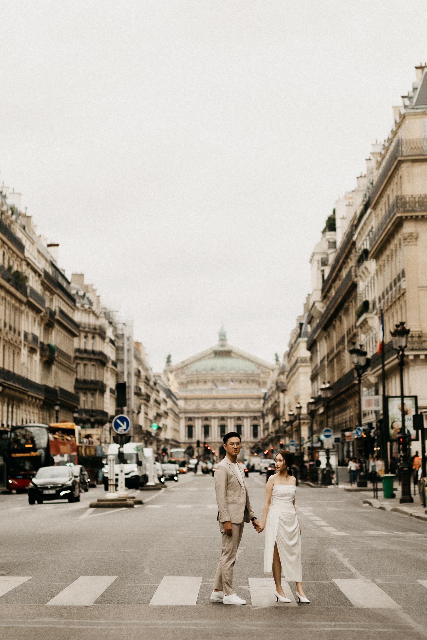 Paris Opera Street Couple Photoshoot