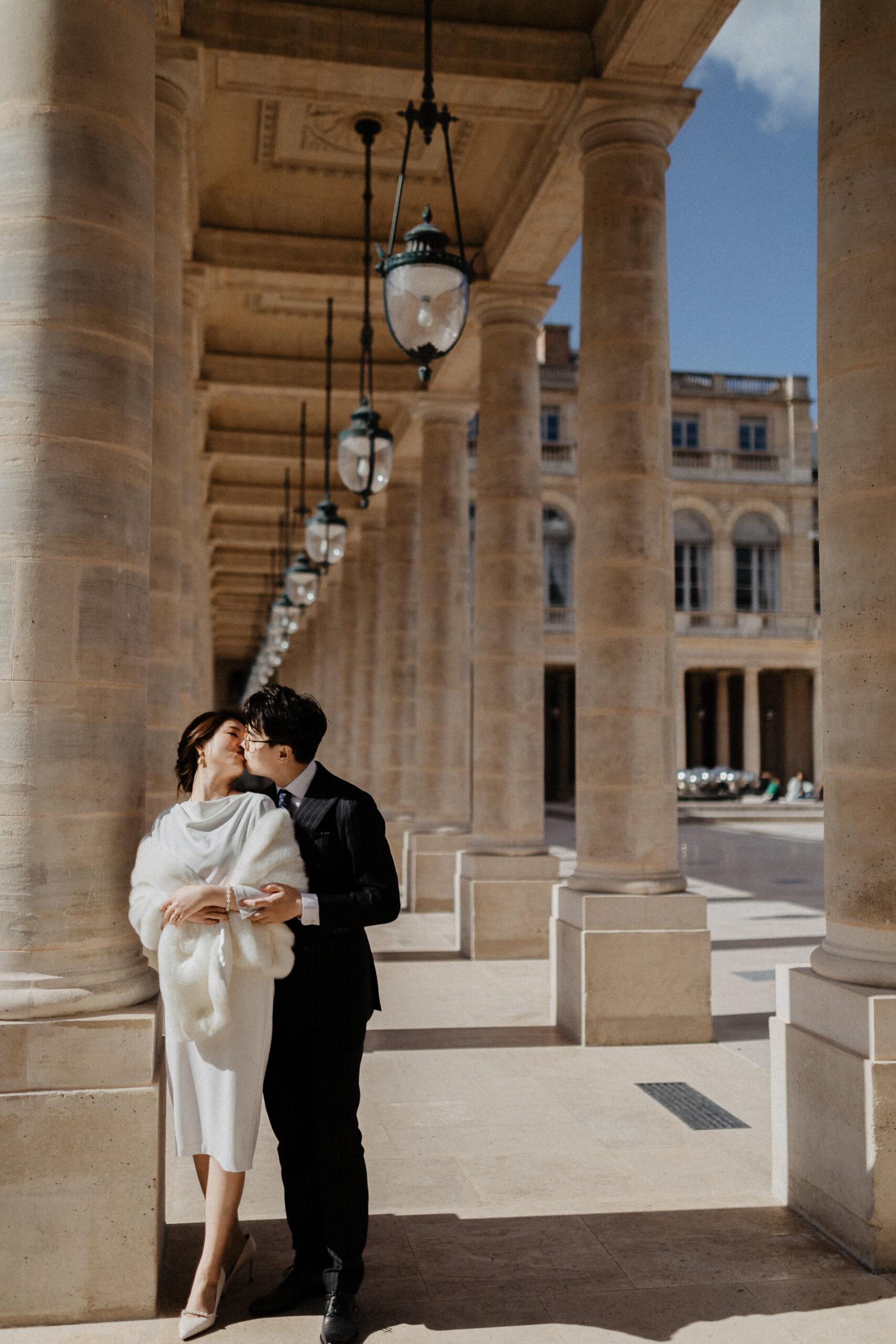 Palais Royal Couple photoshoot paris