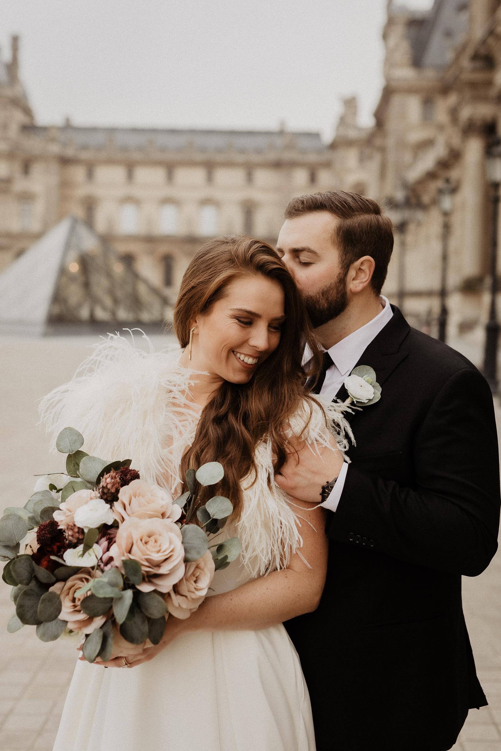 Paris Elopement Louvre