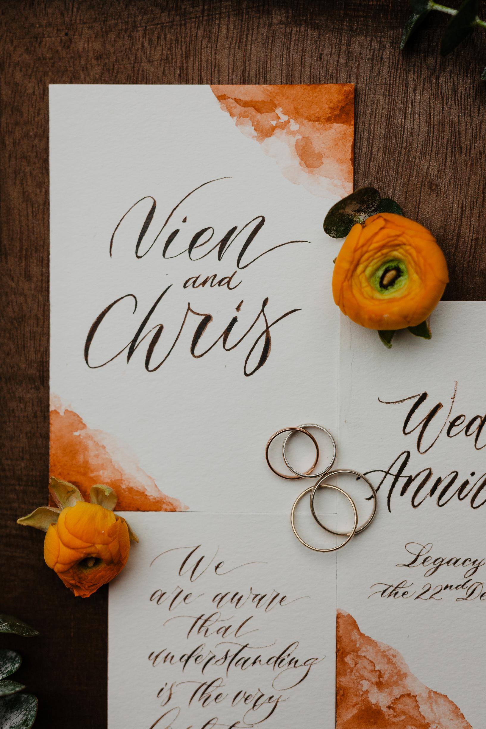 Legacy Yen Tu wedding invitation