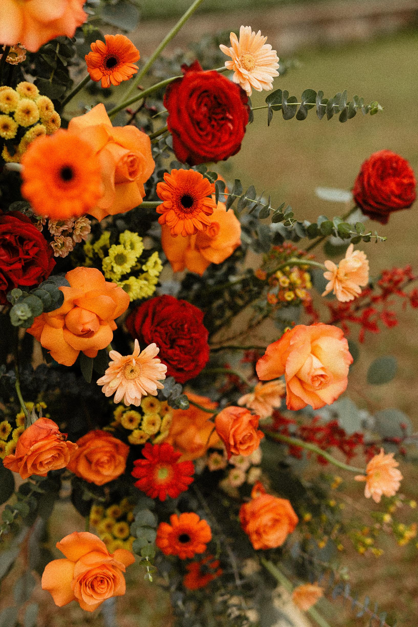 Flowers details Yen Tu wedding elopement vietnam