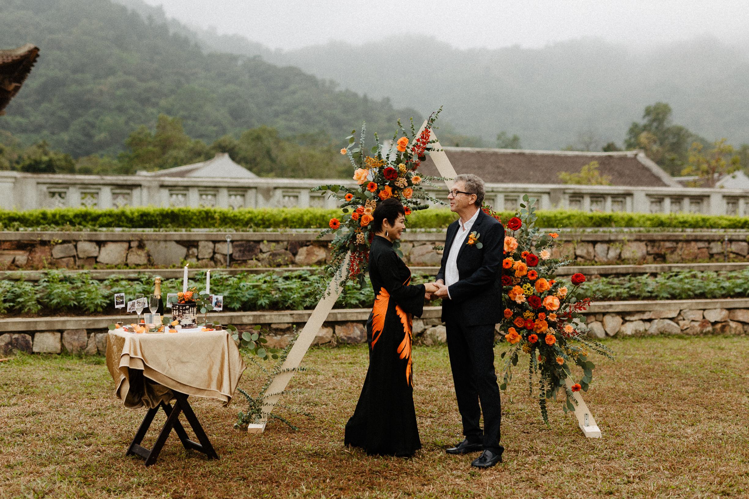 Ceremony Legacy Yen Tu wedding elopement vietnam
