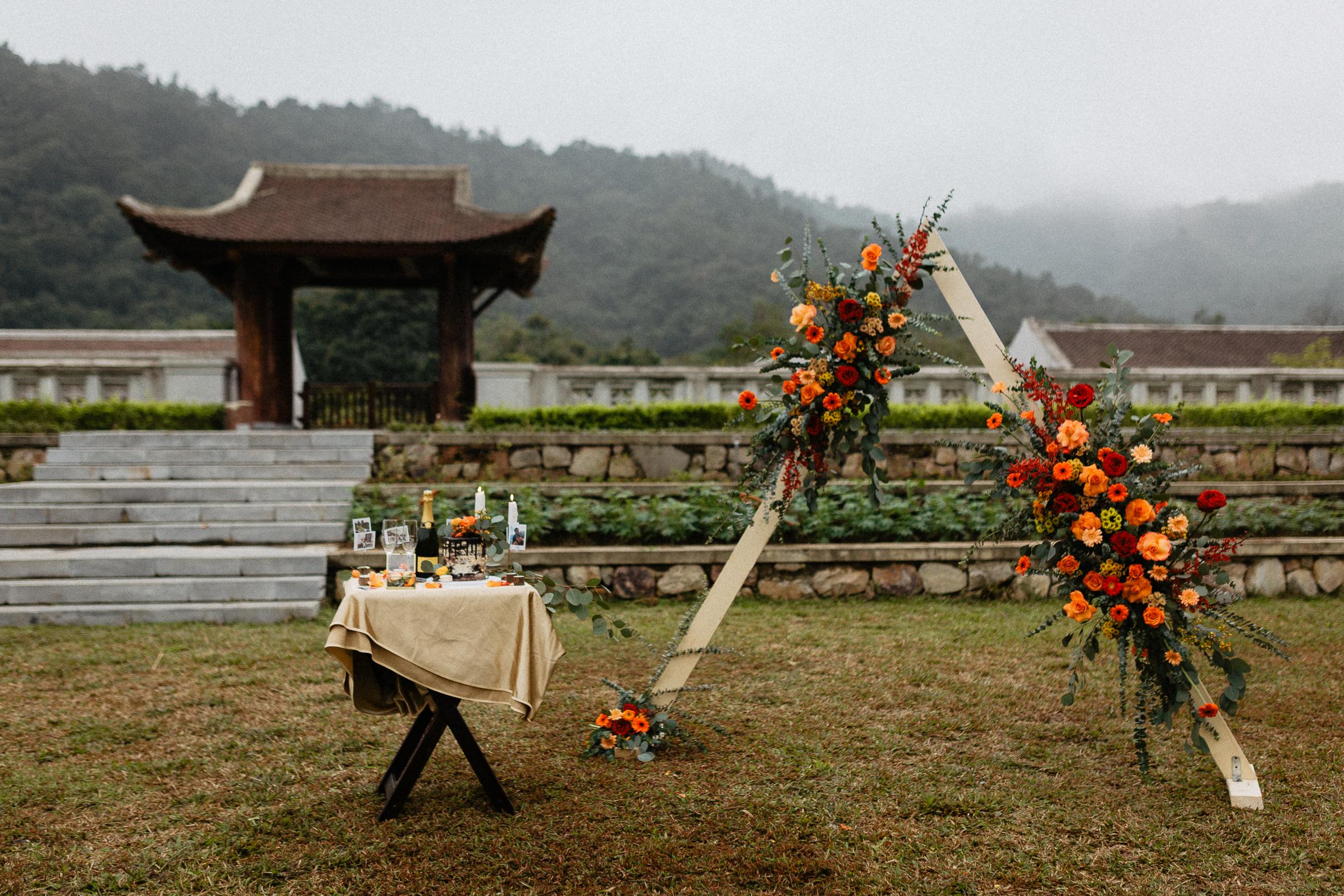 Decoration Legacy Yen Tu wedding elopement vietnam