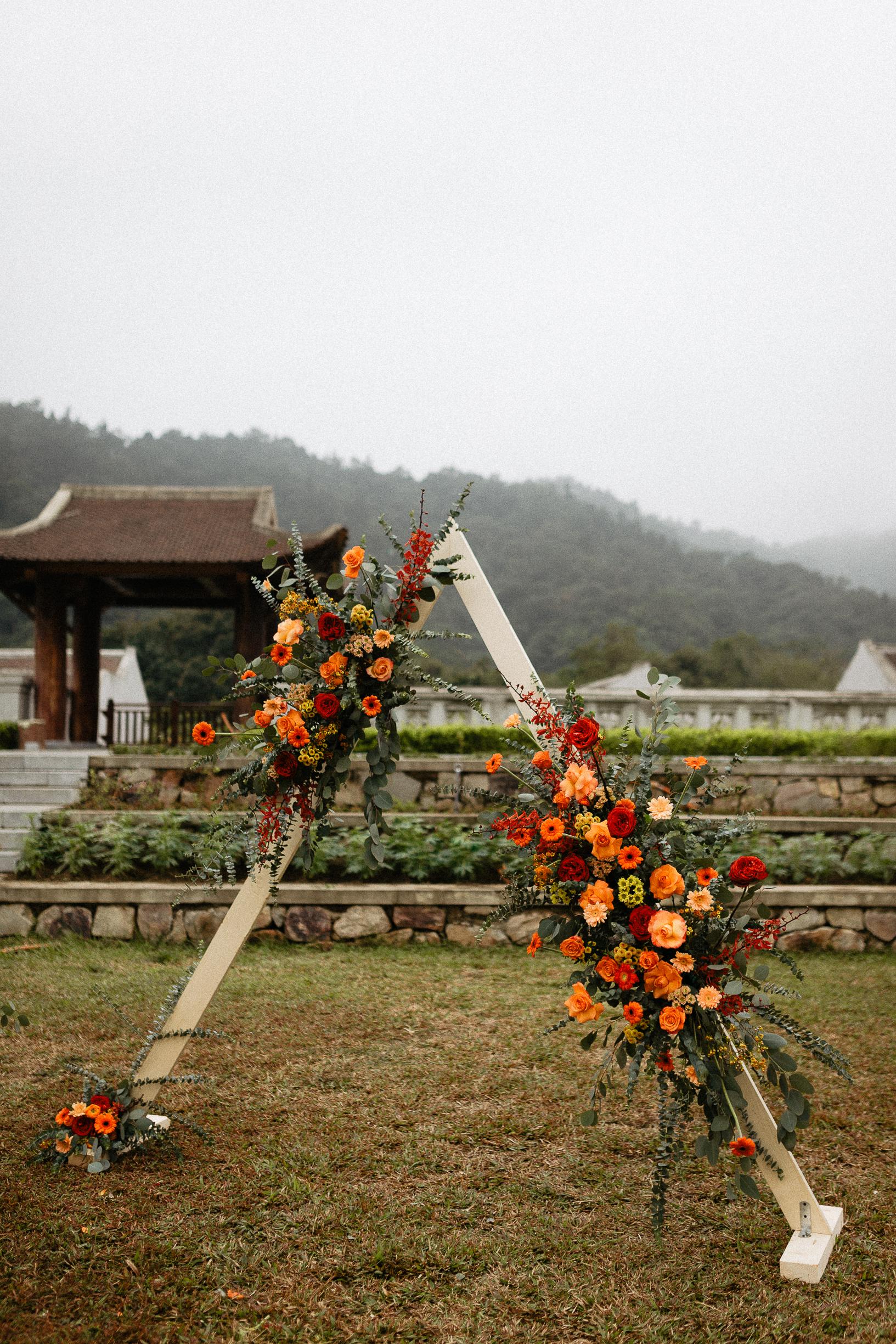 Arche Decoration Legacy Yen Tu wedding elopement vietnam