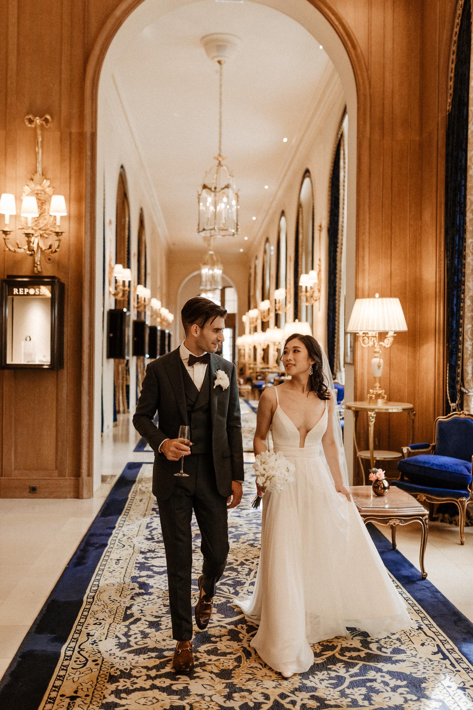 Intimate wedding at the Ritz Paris