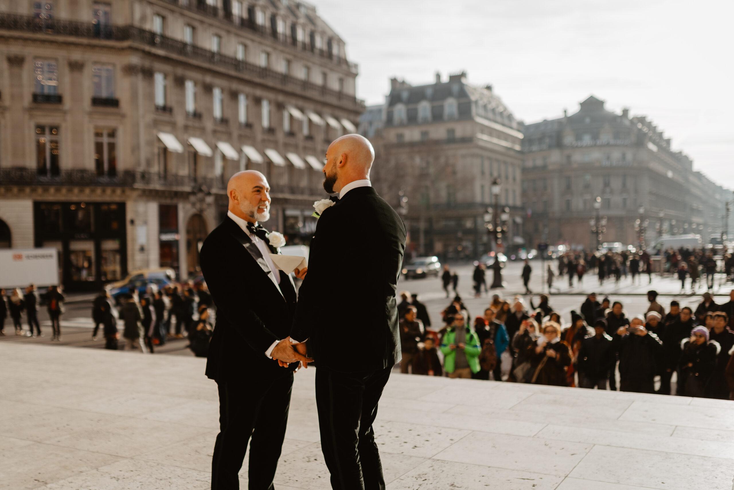 same sex gay elopement wedding photo