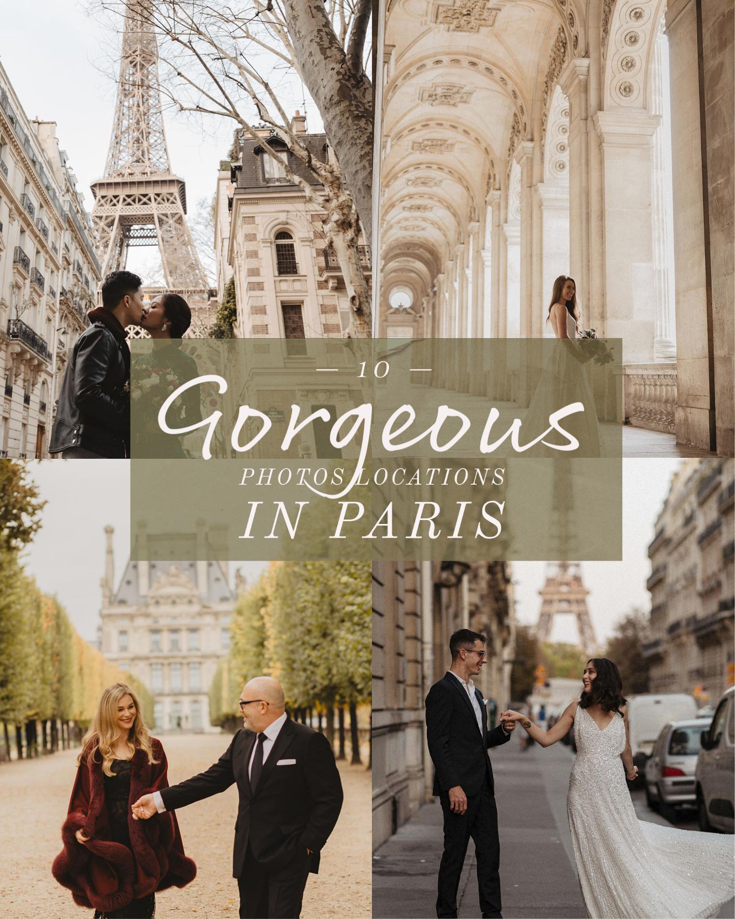 10 gorgeous photos location in Paris