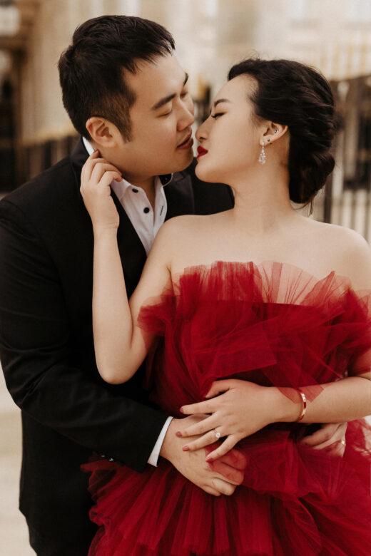 red wedding dress paris