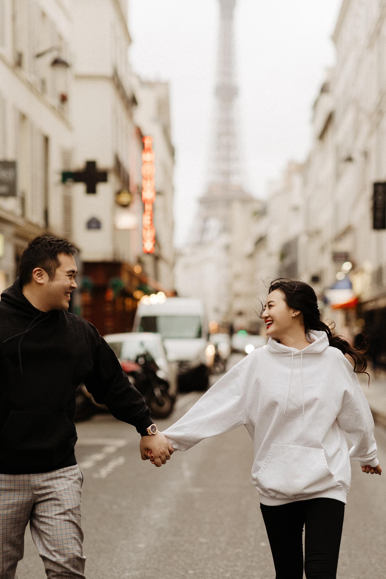 Paris asian engagement photographer