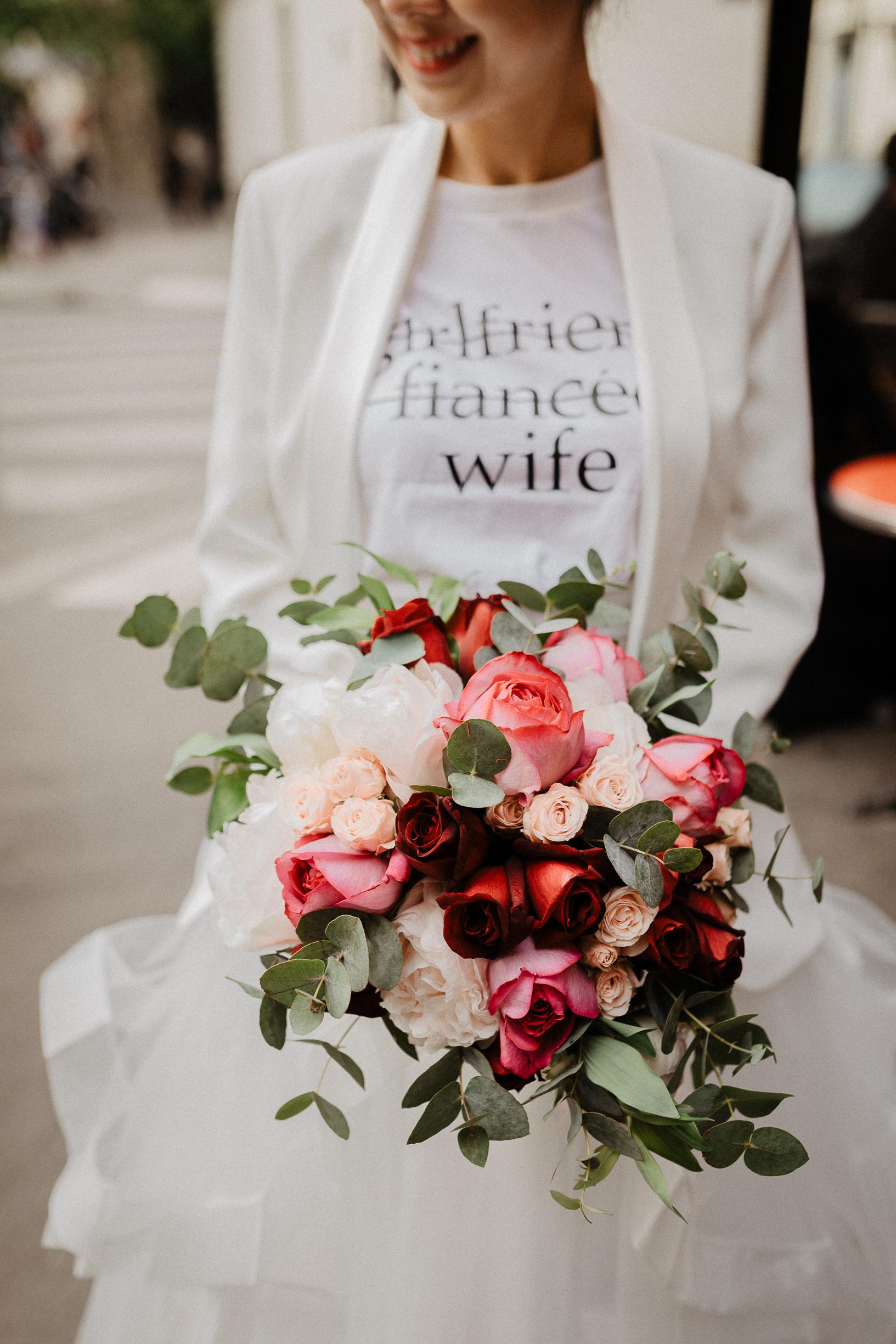 wedding paris flower bouquet