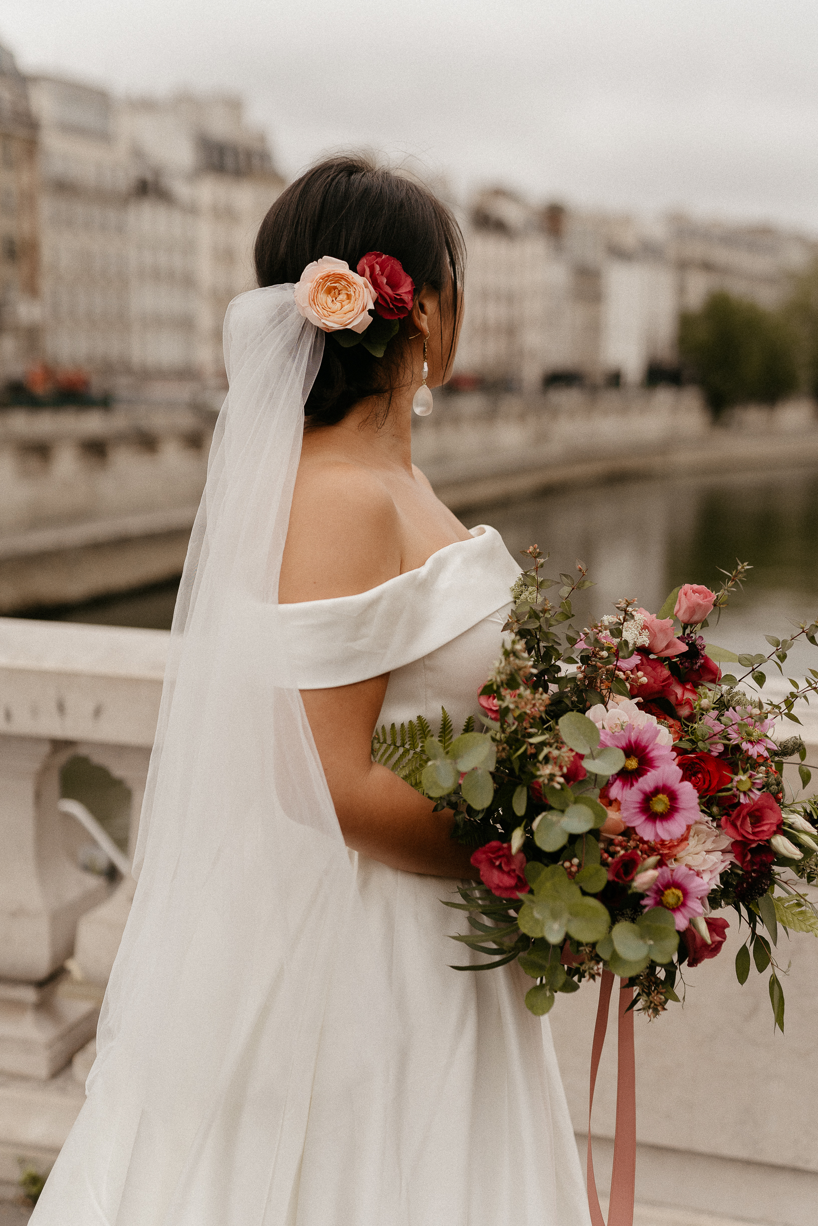bride wedding paris