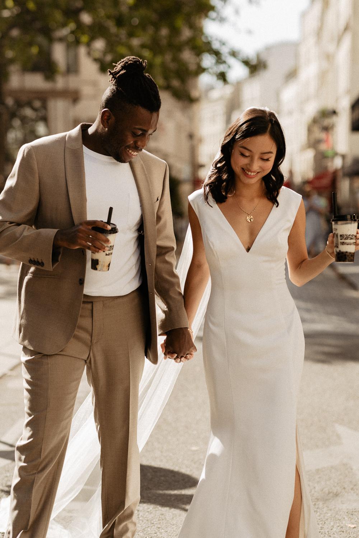 paris wedding bubble tea photographer