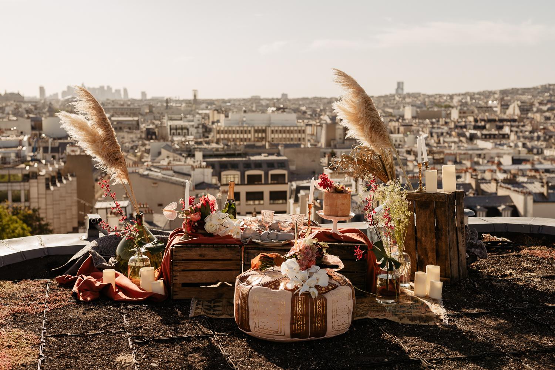 paris rooftop intimate wedding