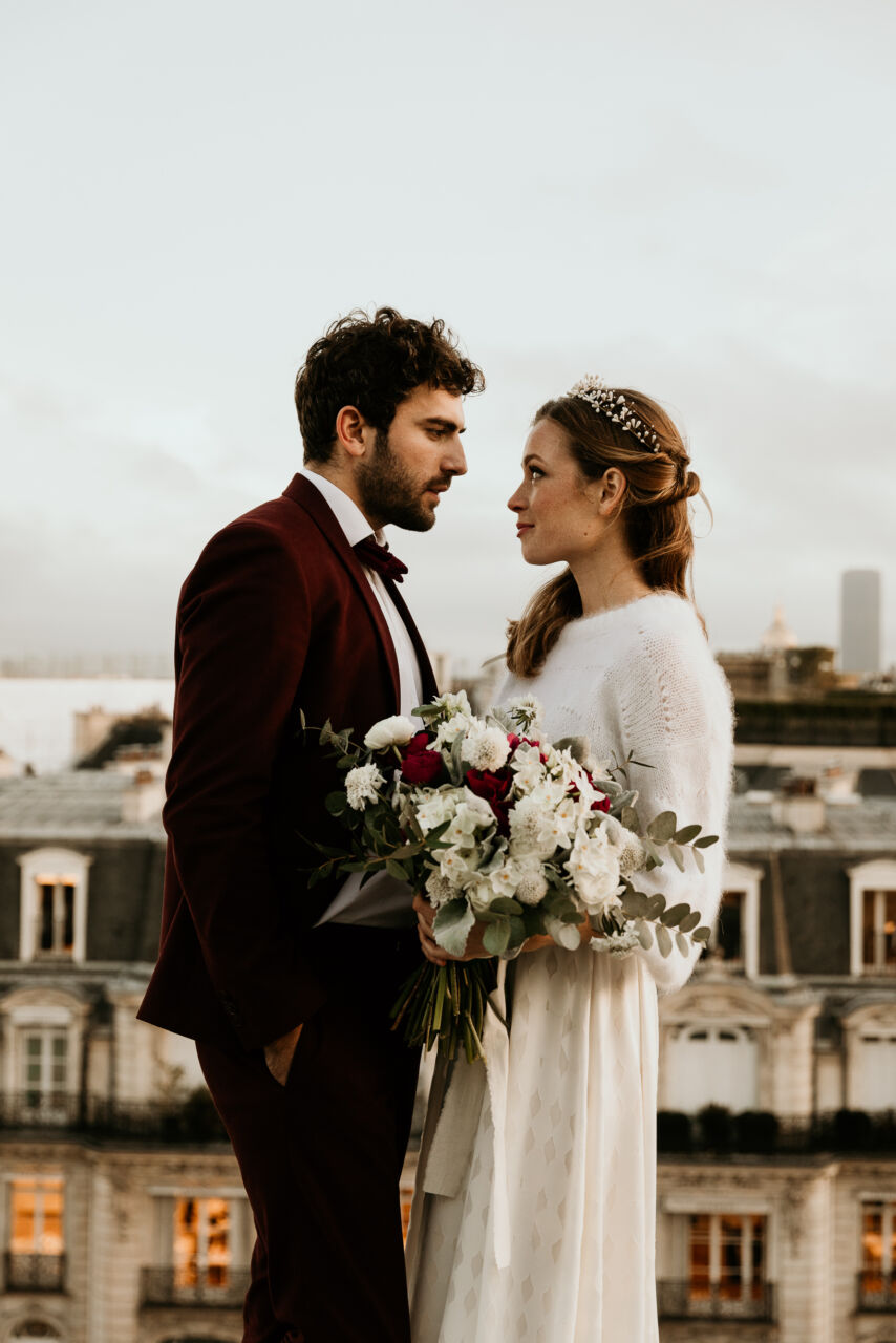 Paris Elopement rooftop