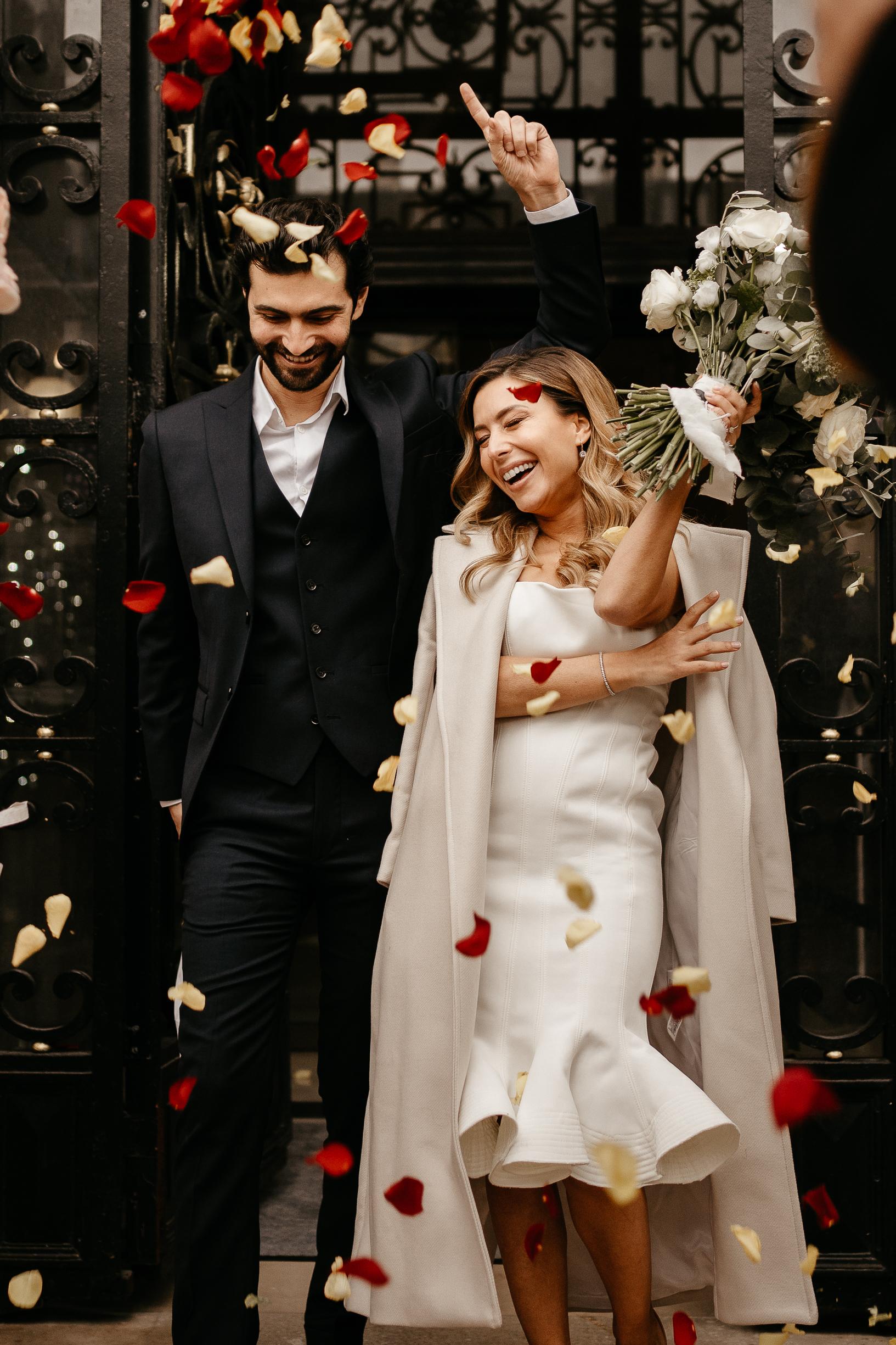 Lancer des petales | Sortie Mariage