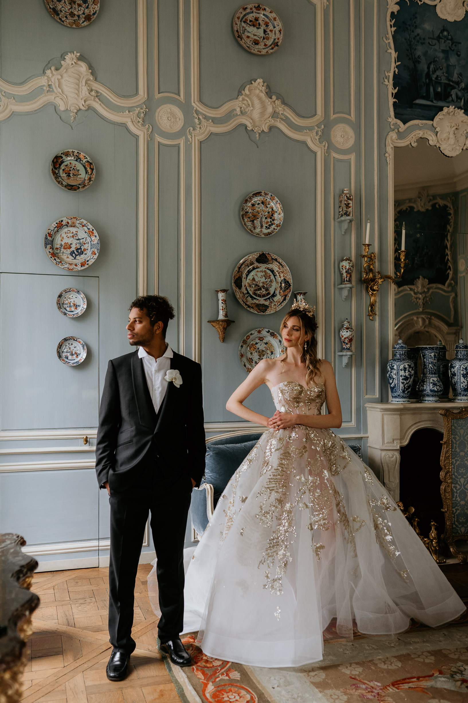 Chateau de Villette interior luxury wedding