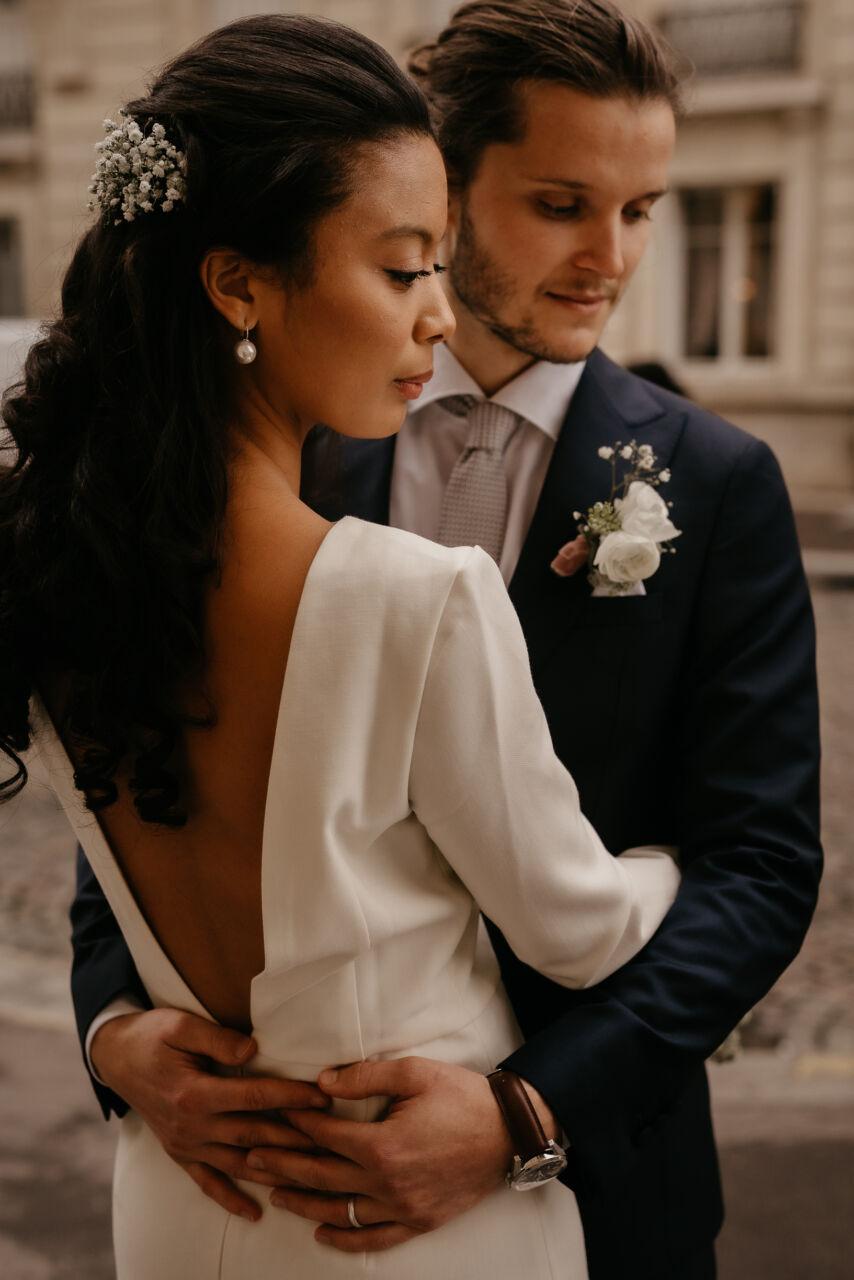 mariage civil paris mairie montrouge couple nouveau mariage fleur parc