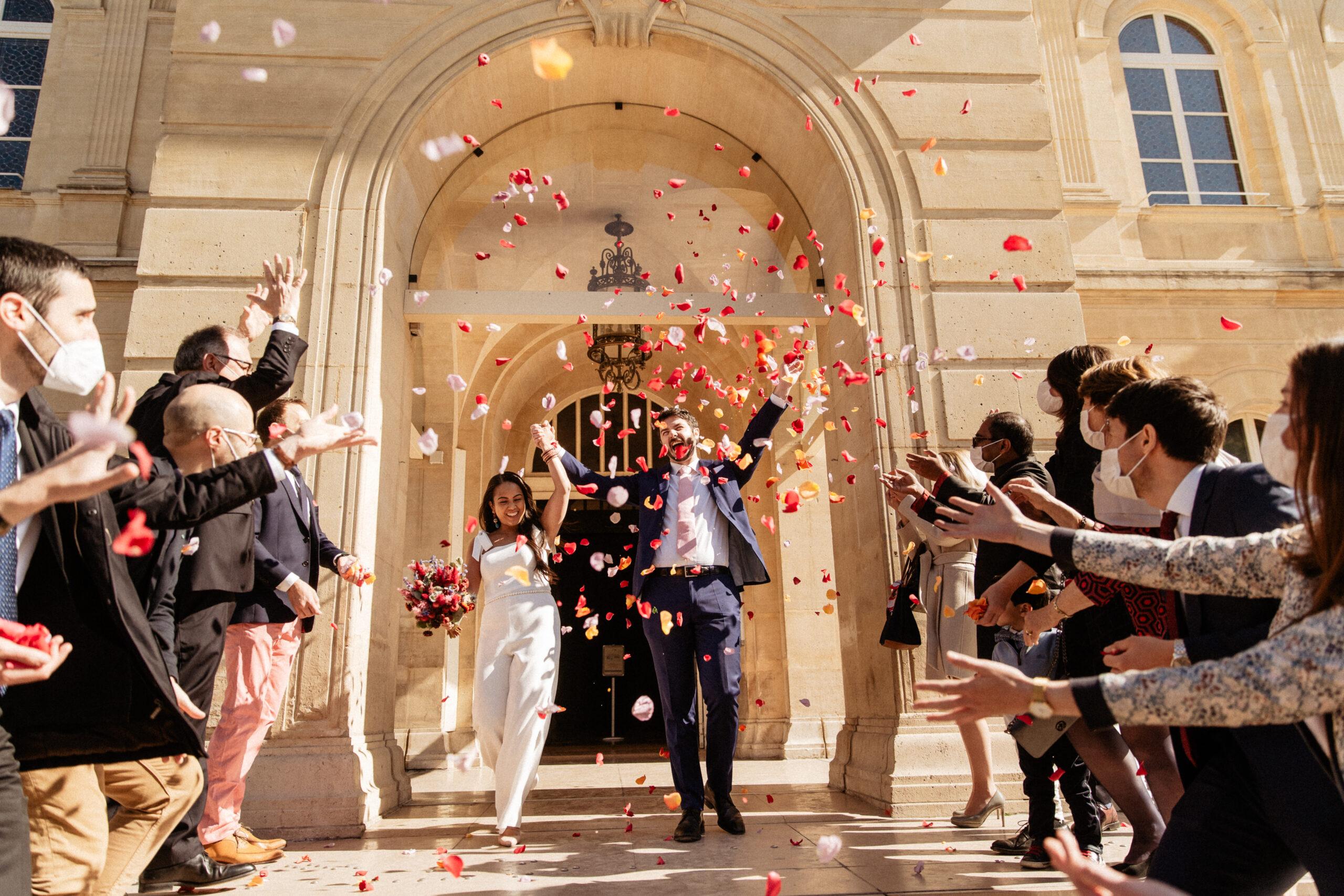 Mairie 14eme Civil mariage paris photograph fleur