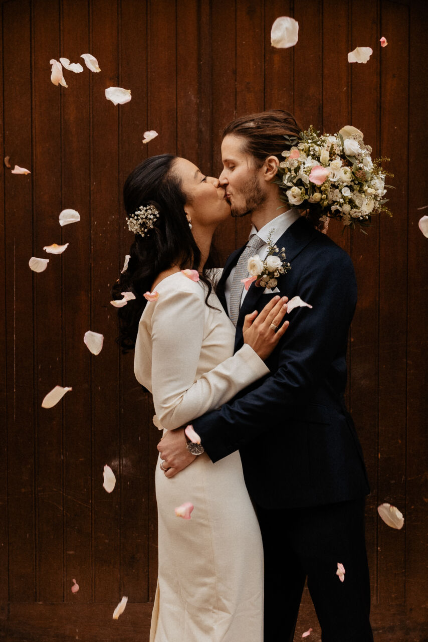 sortie mariage civil petales
