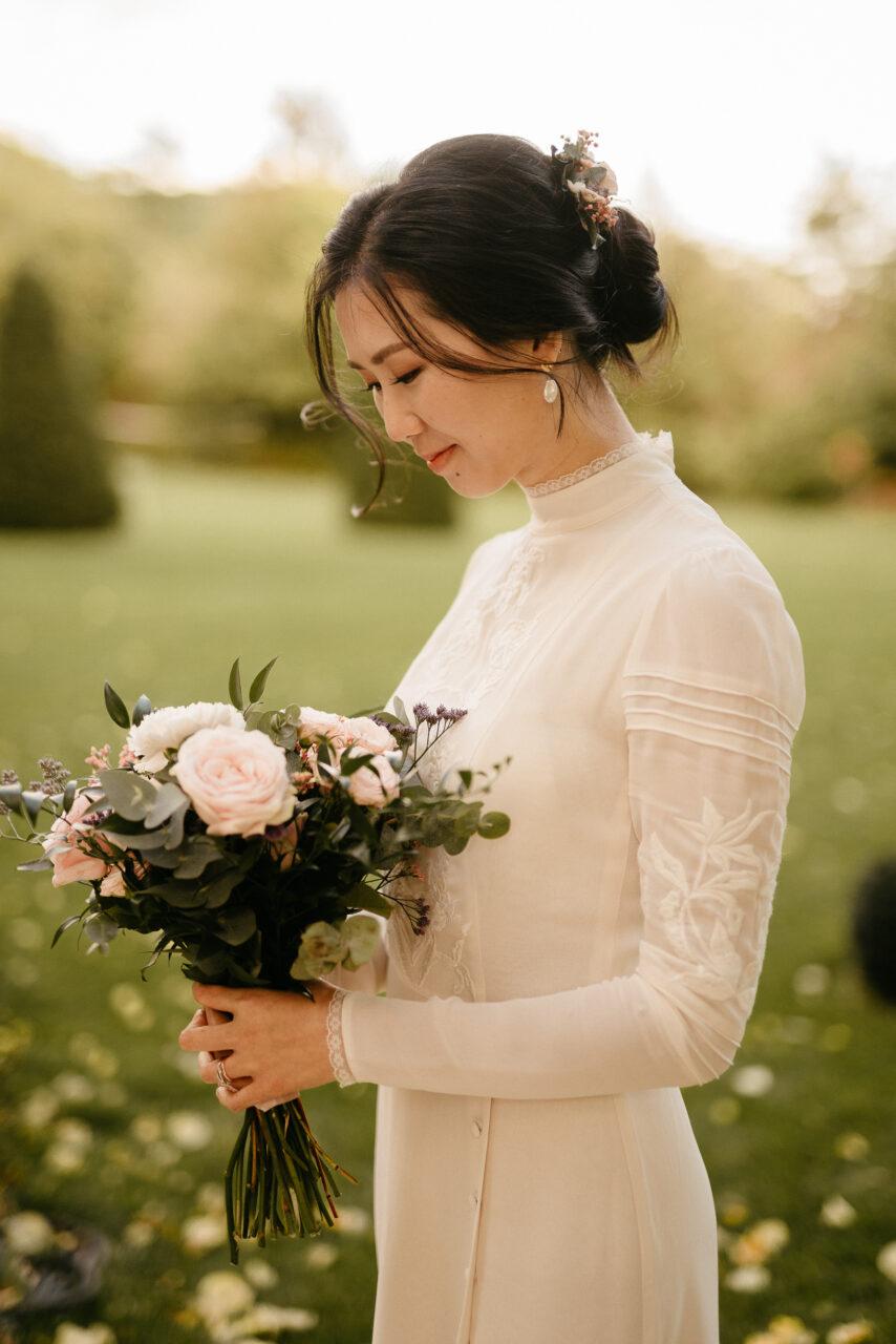 asian beautiful elegant bride
