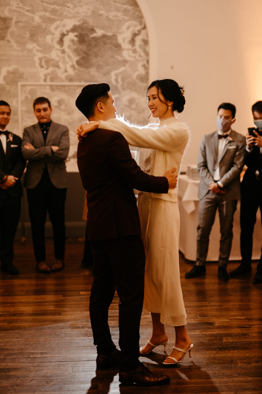 First dance asian couple wedding in Covid