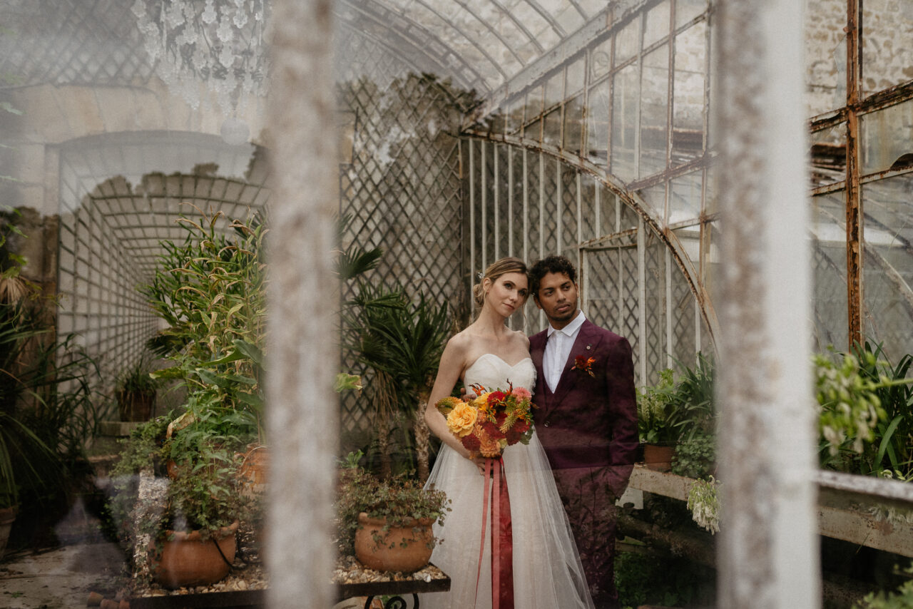 Colorful Elopement green house wedding  ideas