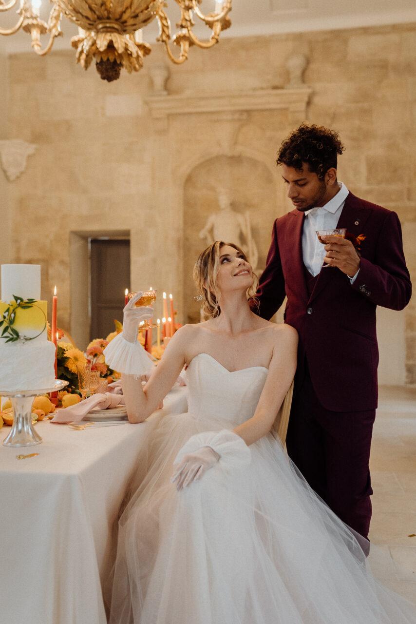 Colorful Elopement citrus wedding  ideas